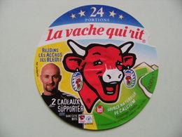 Etiquette Fromage Fondu - Vache Qui Rit - 24 Portions Bel Pub Les Bleus F.F.F Et Barthez  A Voir ! - Cheese