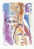 FRANCE - Carte Maximum - 2,30 Charles De Gaulle - Premier Jour - 59 LILLE - 24.2.1990 - De Gaulle (General)