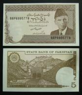 Pakistan 5 Rupie 1983 1984 FDS UNC Rupee Pinholes - Pakistan