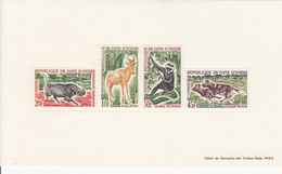 1963 1964 Cote D'Ivoire Ivory Coast Mammals Monkeys Warthogs Wild Dogs Souvenir Sheet MNH - Ivory Coast (1960-...)