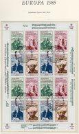 CEPT 1985 Türkisch-Zypern 166/9 16-KB SST 16€ Jahr Der Musik Händel Bach Scarlatti Ss Bloc Music Sheetlet Bf Cyprus - 1985