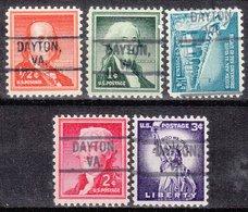 USA Precancel Vorausentwertung Preo, Locals Virginia, Dayton 802, 5 Diff. - Vereinigte Staaten