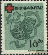 Franz. Zone-Rheinland Palatine 42A Unmounted Mint / Never Hinged 1949 Red Cross - French Zone