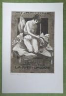 Grand Ex-libris Illustré Belgique XXème - Femme Nue Se Piquant à La Morphine Par TILMANS - L.A. RATI OPIZONNI - Bookplates