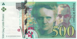 BILLET DE 500 FRANCS  1994  N 023398380  NEUF - 500 F 1994-2000 ''Pierre Et Marie Curie''