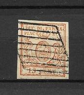 ITALIE -PARME -REGENCE - -BEAU TIMBRE OBLITERE N° 19- PAS EMINCES DE 1857/59 -VOIR SCAN DU VERSO - Parma