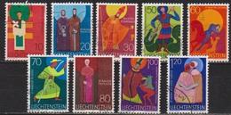 Lichtenstein 1967 MiNr.486 - 494 Kirchenpatrone  ( 1720 ) Günstige Versandkosten - Liechtenstein