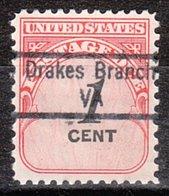 USA Precancel Vorausentwertung Preo, Locals Virginia, Drakes Branch 843 - Vereinigte Staaten