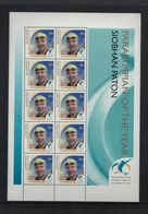 AUSTRALIA 2000 AUSTRALIAN 6 GOLD MEDALS WINNER OLYMPICS SWIMMING PARALYMPIAN OF THE YEAR SIBHAN PATON SHEET OF 10 NHM - Sommer 2000: Sydney - Paralympics