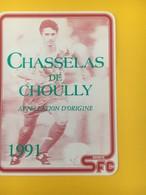 8881-  José Sinval Genève Servette 1991 Suisse Chasselas De Choully - Soccer