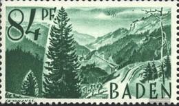Franz. Zone-Baden 12I Fleck In Der 8 (Feld 13) Postfrisch 1947 Freimarken - Zone Française