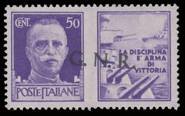 Italia: R.S.I. - G.N.R.  PROPAGANDA DI GUERRA: 50 C. Violetto (I - Marina) - 1944 - 4. 1944-45 Repubblica Sociale