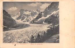 """08568 """"(AO) MONTE BIANCO - MARE DI GHIACCIO"""" VEDUTA.   CART  SPED 1903 - Italia"""