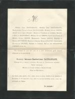 Faire Part Déces De M Antonin Charles Léon Dauassans Maire De Manthelan ( Dpt 37 ) Le 28/09/1897  Lo42901 - Obituary Notices