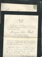 Faire Part Déces De Monseigneur Felix Biet évêque à St Cyr Au Mont D'or Le 9 /09 /1901  Lo42907 - Avvisi Di Necrologio