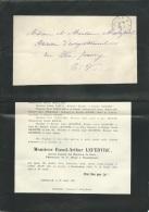 Faire Part Déces De M Raoul Arthur Lefebvre (  Pharmacien )  à Morftefontaine ( Dpt 60 )  Le 22/07/1906   Lo42908 - Avvisi Di Necrologio