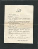 Faire Part Déces De M Alphonse Boffinet  à Poitiers Le 23 /07/1906  Lo42910 - Avvisi Di Necrologio