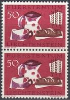 Liechtenstein 1963 - Campaign Against Hunger: MIlk, Bread, Etc. - Vertical Pair Mi 432 ** MNH - Liechtenstein