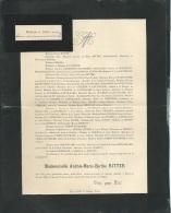 Faire Part Déces De Mlle Andrée Marie Berthe Ritter à Tours ( Dpt 37 ) Le 26/05/1905   Lo42915 - Avvisi Di Necrologio