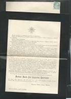 Faire Part Déces De Mme Marie Zoé Augustine Coutisson à Mamers ( Dpt 72 ) Le 30/04/1901  Lo43001 - Obituary Notices