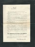 Faire Part Déces De Mme Madeleine Marie Alice Josianne Texier-Pombreton à Lesparre Le 7/05/1904  Lo43002 - Obituary Notices