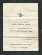 F.P. Déces De Mlle Madeleine Bourzat File De Feu M Bourzat  à Poitiers Le 16/06/1904     Lo43005 - Obituary Notices