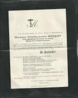 F.P. Déces De M Charles Arsène Bocquet à Chatellerrault Le 7/07/1904   Lo43007 - Avvisi Di Necrologio
