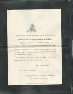 F.P. Déces De Mme Marie Helène Esther Méreau  à Chatellerault Le 11/07/1904   Lo43008 - Avvisi Di Necrologio