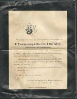 F.P. Déces De M Nicolas Joseph Maurice Massonnet  à Chatellerault Le 17/05/1900  Lo43009 - Avvisi Di Necrologio