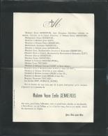 F.P. Déces De Mme Veuve Emile Gennevois à Saint Brieuc Le 12/01/1904   Lo43012 - Avvisi Di Necrologio