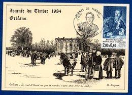 Carte / Journée Du Timbre / Diderot / Orléans / 1 Mars 1984 - 1980-89