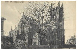 St James's Church Clapham Early B&w Unused C1907 - London Suburbs