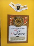 8884- Fête Des Vignerons Vevey 1977 Suisse Vin Des Confrères - Etiquettes