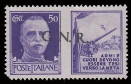 Italia: R.S.I. - G.N.R.  PROPAGANDA DI GUERRA: 50 C. Violetto (II - Esercito) - 1944 - 4. 1944-45 Repubblica Sociale