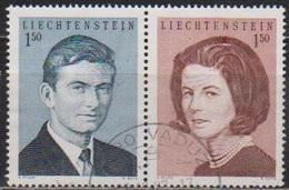 Lichtenstein 1967 MiNr.478 - 479 Aus Block 7 Hochzeit Erbprinz Hans Adam Mit Gräfin Marie( 1724a) Günstige Versandkosten - Liechtenstein