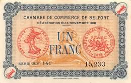 .D.18-2196 : CHAMBRE DU COMMERCE 1 FRANC. BELFORT - Chambre De Commerce