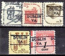 USA Precancel Vorausentwertung Preo, Locals Virginia, Dublin 872, 5 Diff. - Vereinigte Staaten