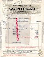 49 - ANGERS- FACTURE FABRIQUE LIQUEURS COINTREAU - 1940 A ETS. BURGEAT GIRARDOT DOULEVANT LE CHATEAU - Alimentare