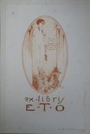 Grand Ex-libris Illustré Belgique XXème - E.T.O. Femme Nue Par TILMANS - Bookplates