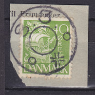 Denmark Mi. 207 II Stjernestempel Star Cancel (1088) S. 3. (Underlagt KØBENHAVN S.) Karavelle Ship Schiff Stamp - 1913-47 (Christian X)