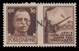 Italia: R.S.I. - G.N.R.  PROPAGANDA DI GUERRA: 30 C. Bruno (II - Esercito) - 1944 - 4. 1944-45 Repubblica Sociale