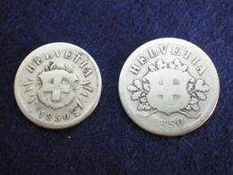 SUIISE RARE DUO  5 ET 10   RAPPEN   BILLON 1850 BB    (  Plbleu1/18  ) - Suisse