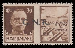 Italia: R.S.I. - G.N.R.  PROPAGANDA DI GUERRA: 30 C. Bruno (I - Marina) - 1944 - 4. 1944-45 Repubblica Sociale