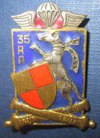 35° Régiment D'Artillerie, émail, Devise - Army