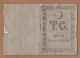 AC - REPUBLIC OF TURKEY 1966 IDENTITY CARD 36 PAGES - Documenti Storici