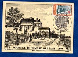 Carte / Journée Du Timbre / Porte Barentin Vers 1829 / Orléans / 10 Mars 1979 - Cartes-Maximum