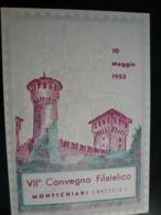 Montichiari 1953 10 Maggio Manifestazione Settimana Filatelica - 1946-60: Marcofilie