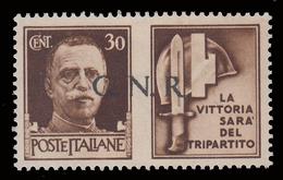 Italia: R.S.I. - G.N.R.  PROPAGANDA DI GUERRA: 30 C. Bruno (IV - Milizia) - 1944 - 4. 1944-45 Repubblica Sociale