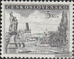 Czechoslovakia 818b (complete Issue) With Hinge 1953 Prague - Czechoslovakia