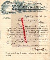 49-ANGERS-RARE FACTURE MANUSCRITE LEMOINE-BATY & VALLEE -HORTICTEUR-HORTICULTURE- AU BON JARDINIER-PLACE DES HALLES-1903 - Agricoltura
